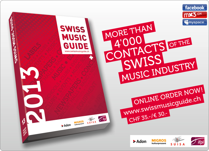 Swiss Music Guide, annonces
