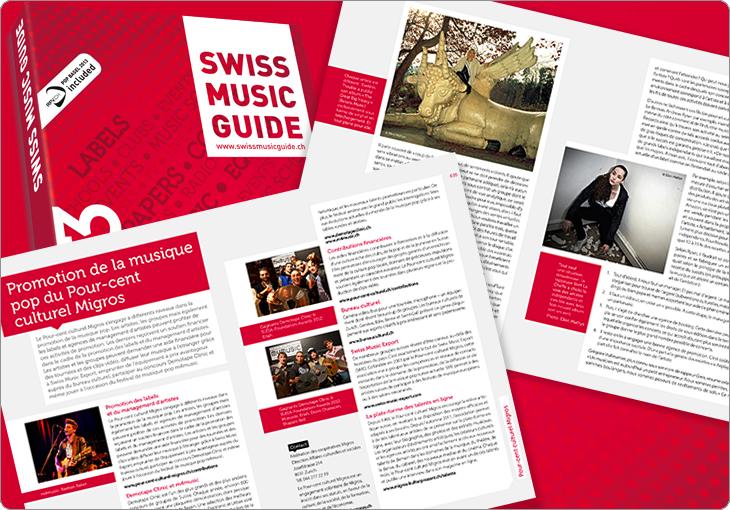 Swiss Music Guide, Mise en page