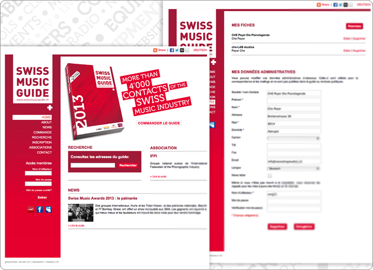 Swiss Music Guide site internet