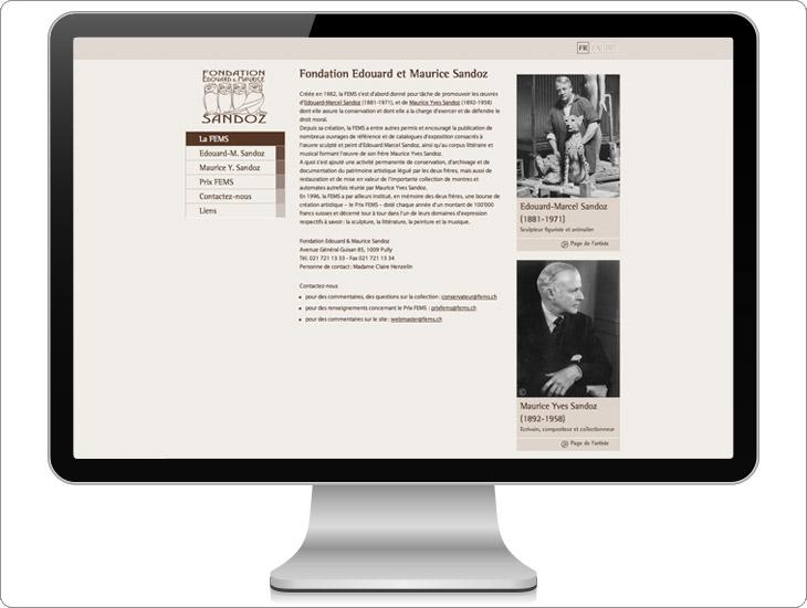 Fems conception du site internet