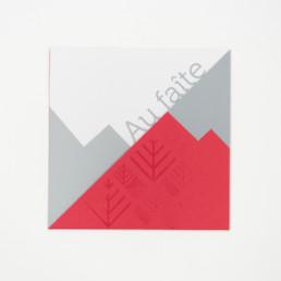 carte de fête de fin d'année, encart et pochette