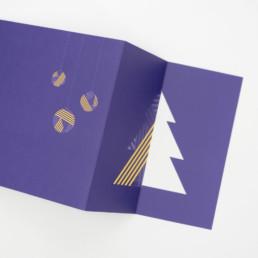 carte de Noel, impression 3 pantones, détail