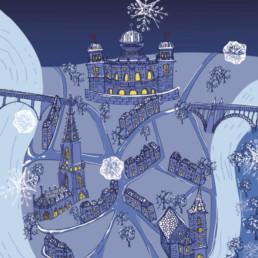 Illustration, fête de fin d'année. E-panel Zaniah