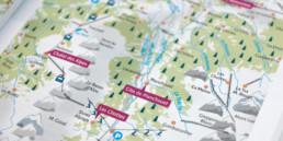Guide mise en page, détail de la carte géographique
