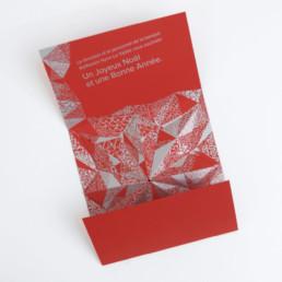 carte de Noël, étoile, argent, détail. Projet graphistes région nord vaudois
