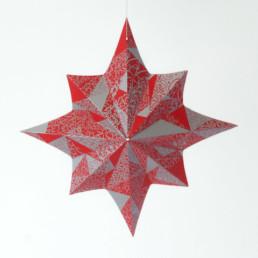 Carte de Noël, découpe, étoile, illustration