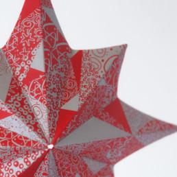 carte de Noël, étoile, argent, détail