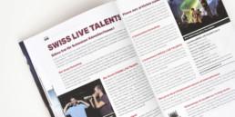 Swiss music guide 2015, mise en page, page de contenu