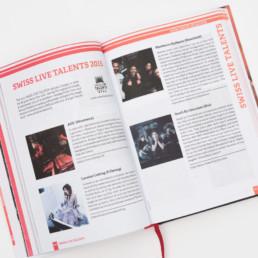 Guide, actualité musicale en Suisse, grille de mise en page. Projet bureau de graphisme région nord vaudois