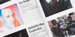 Guide, actualité musicale en Suisse, détail typographie