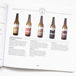 Guide Creaguide, graphisme Zaniah, description bières, mise en page