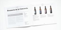 Guide, graphisme Zaniah, Brasserie, mise en page, double page