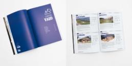 Travail graphiste pour éditeur activité en suisse romande, livre, grille de mise en page, photos et texte