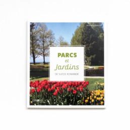 Guide, graphisme Zaniah, Parcs et Jardins, réalisation Design, couverture