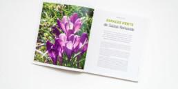 Guide, graphisme Zaniah, Parcs et Jardins, réalisation de la grille de mise en page