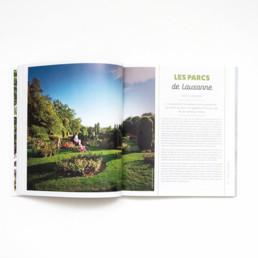 Guide, graphisme Zaniah, Parcs et Jardins, mise en page, choix photo