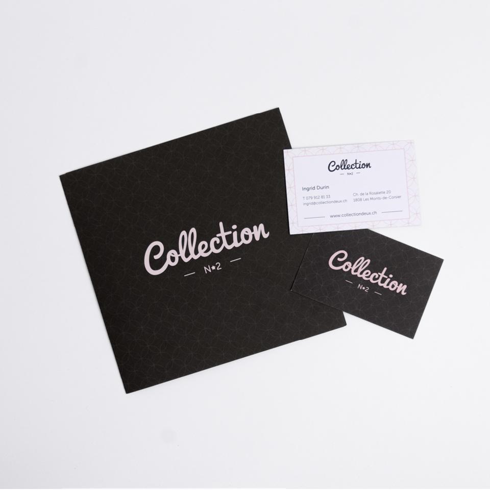 Collection n° 2, plaquette et cartes de visite