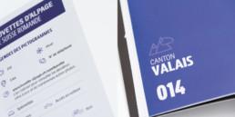 Edition creaguide, mise en page, activités en suisse romande, détail choix typographique