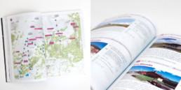 Guide mise en page par graphistes à Orbe, page de contenu des buvettes d'alpage, suisse romande