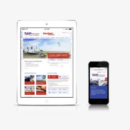 Réalisation du design du site vitrine Bantam, site web responsive