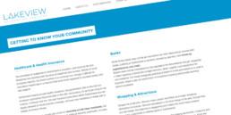 Réalisation d'un site wordpress. Adaptation d'un template existant sur la base de l'identité visuel de Lakeview