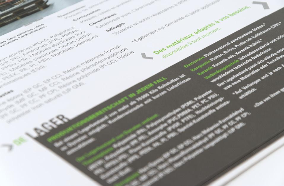 Plaquette de présentation, entreprise, domaine technique
