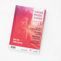 Livre, édition, mise en page, couverture, cover. Page titre, typographie, couleur, détail. Edition domaine musique Suisse