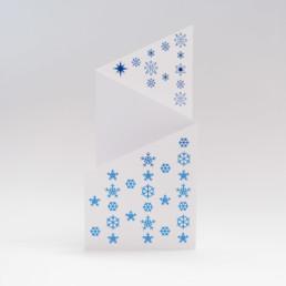 Carte, 2 plis, découpe, argent à chaud bleu. Projet bureau de graphisme région nord vaudois