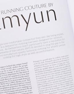Réalisation mise en page magazine, édition, détail