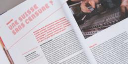 Edition swiss music guide 2018. Projet réalisé par graphistes, région Nord-vaudois. Choix typographie, couleurs et mise en page.