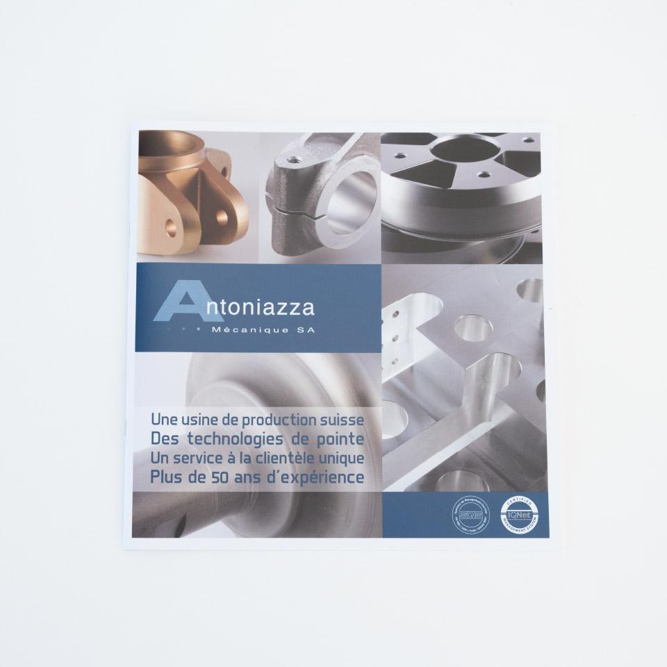 zaniah, brochure de présentation, mise en page, couverture
