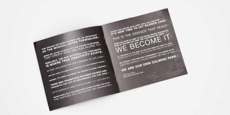 zaniah, pochette CD, mise en page, choix typographie