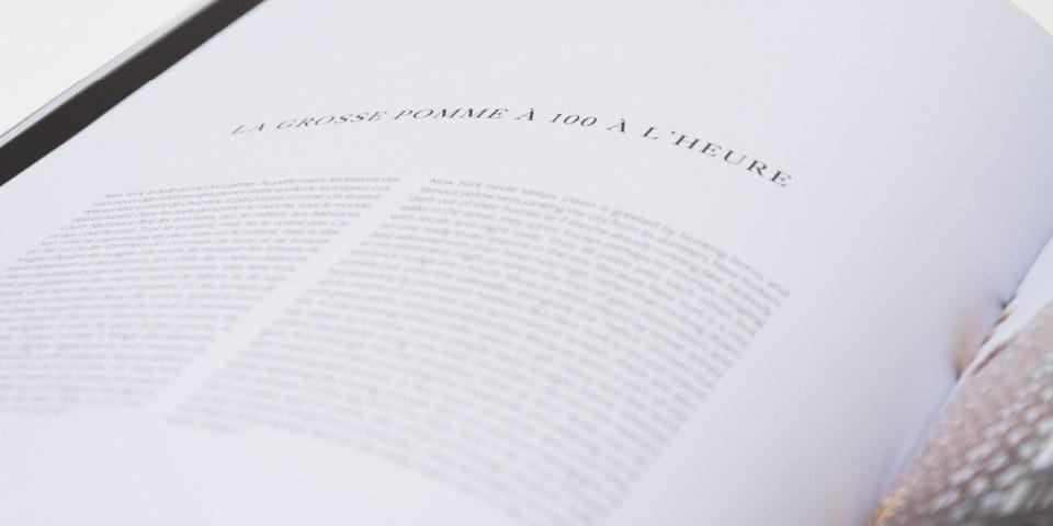 Book texte typographie detail