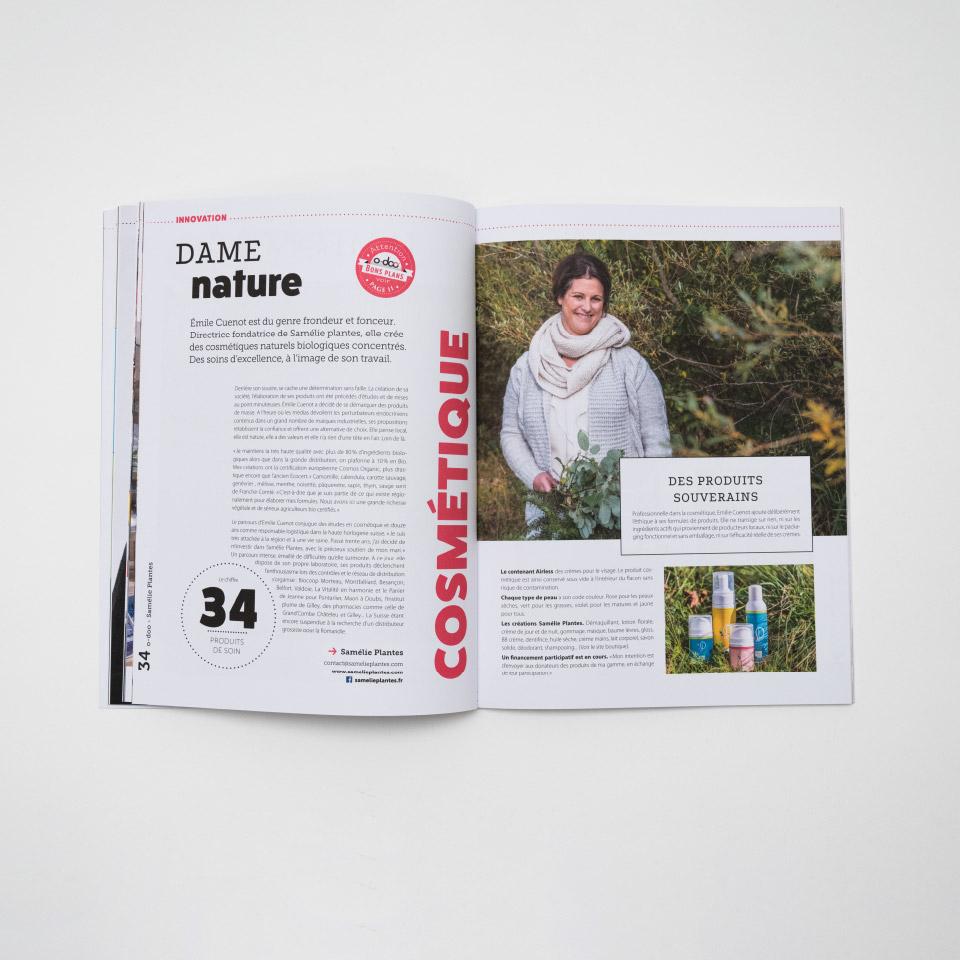 Magazine double page Mise en page