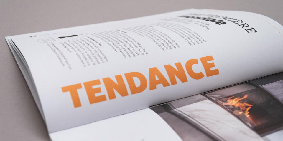 Magazine mise en page texte