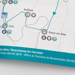 Brochure, mise en page, carte
