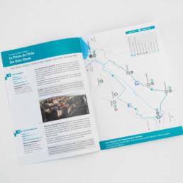 Brochure, typographie, carte