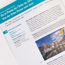 Brochure, mise en page, typographie