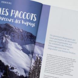 Guide raquette, mise en page, typographie