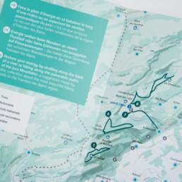 Brochure, carte, Domaine tourisme.