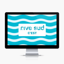 Illustration, rive sud, yverdon, ville pour animation, detail
