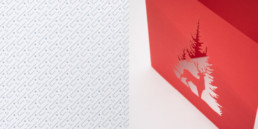 Carte découpe papier couleur