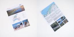 Dépliant, texte et photos, couverture, plan