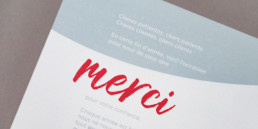 Création graphique, carte de voeux, remerciement. Impression papier, encre métallique.