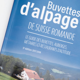 Couverture de la 5e edition du guide des buvettes d'alpage de suisse romande