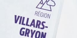 page titre région. typographie et pictogramme sur fond blanc