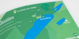 Détail plan illustré et page titre. Projet graphistes nord vaudois.