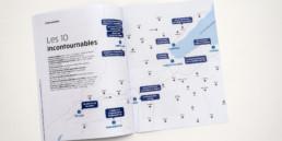 Brochure A4, douple page carte région nord vaudois. Graphisme, dessin, typographie et mise en page.