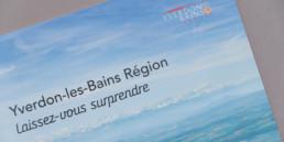 Office du tourisme, couverture, brochure de présentation, Yverdon-les-bains région.