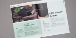 Double page brochure tourisme, Conception et réalisation graphistes à Orbe.